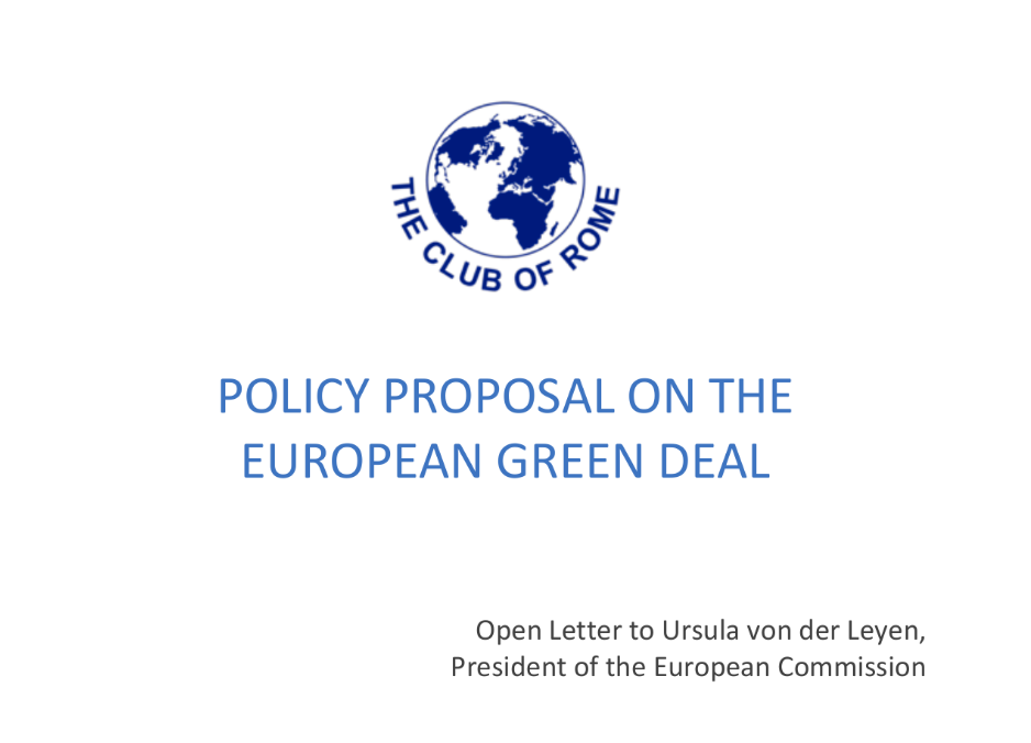 The Club of Rome calls for an ambitious, transformative European Green Deal