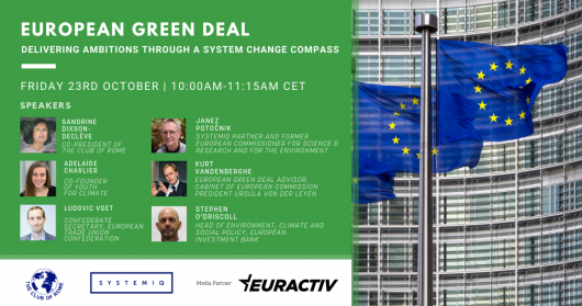 The Club of Rome and SYSTEMIQ propose a systemic framework of implementation for delivering on European Green Deal ambitions